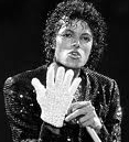 Michael Jackson with one glove